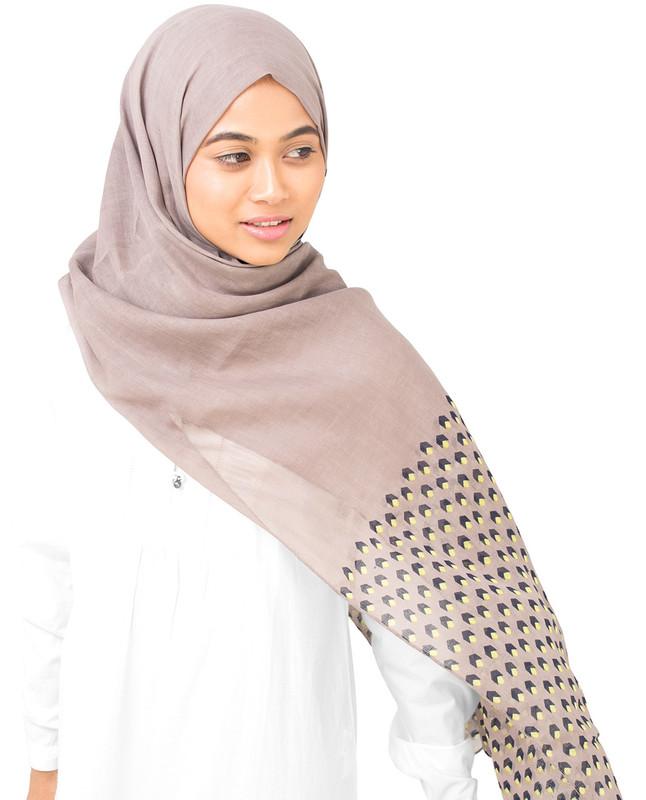 Geo Cube Cotton Voile Hijab