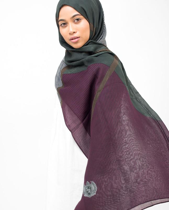 Lines Of Blocks Viscose Hijab