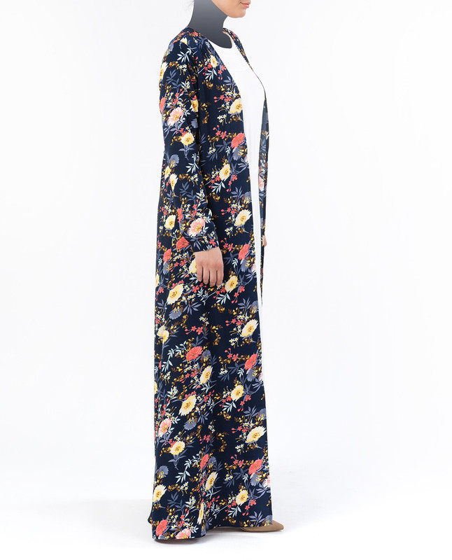 Nyla Floral Navy Kimono