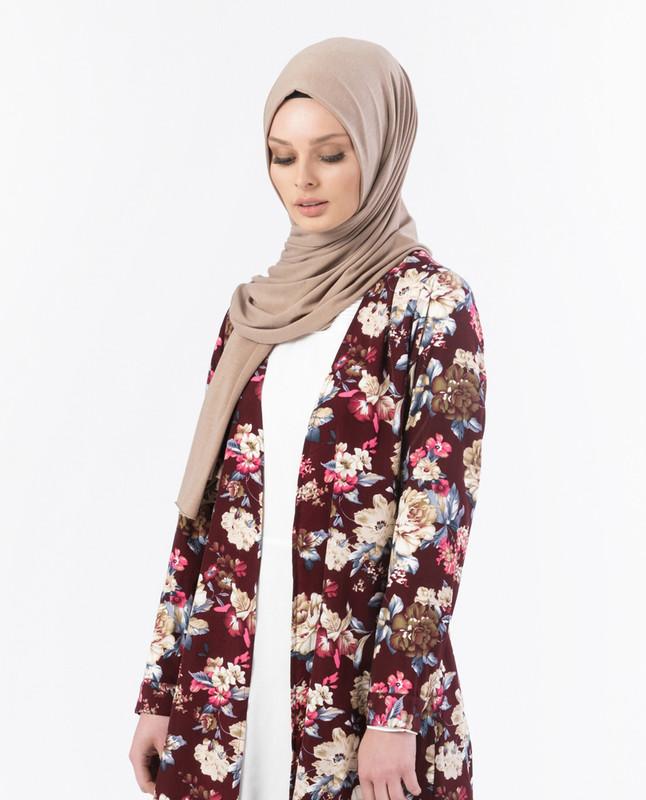 Nyla Floral Burgundy Kimono