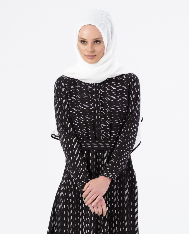 Iman Black Print Dress