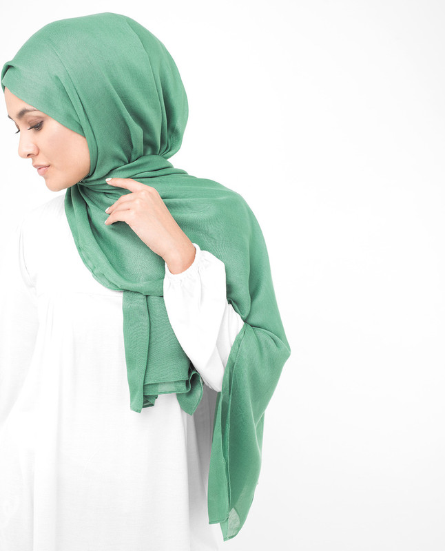 Deep Grass Green Viscose Scarf