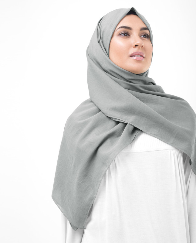 Steeple Grey Cotton Voile Scarf