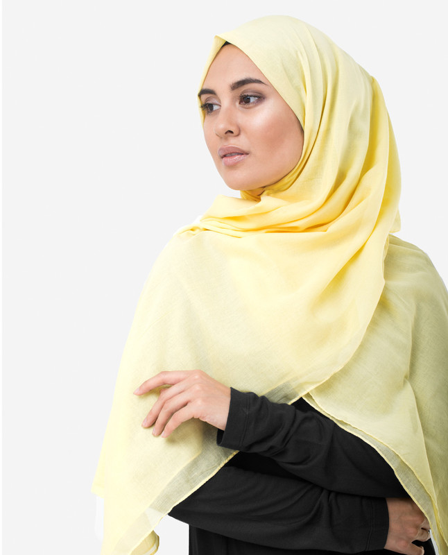 Lemon Grass Yellow Cotton Voile Scarf