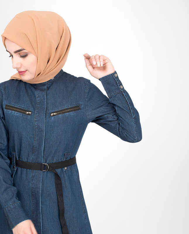Urban Front Open Denim Jilbab