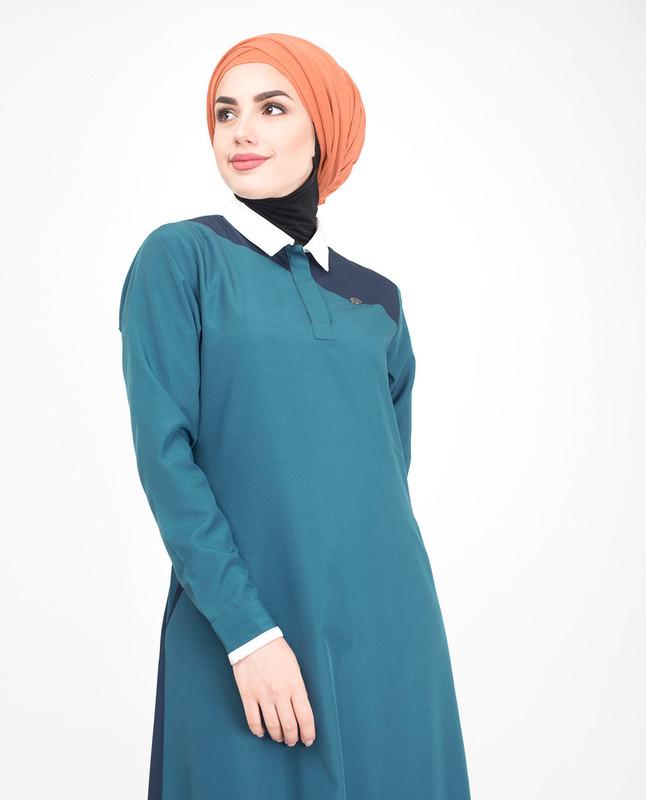 Contrast color jilbab abaya
