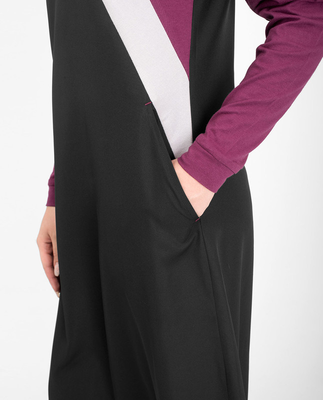 Black casual jilbab abaya