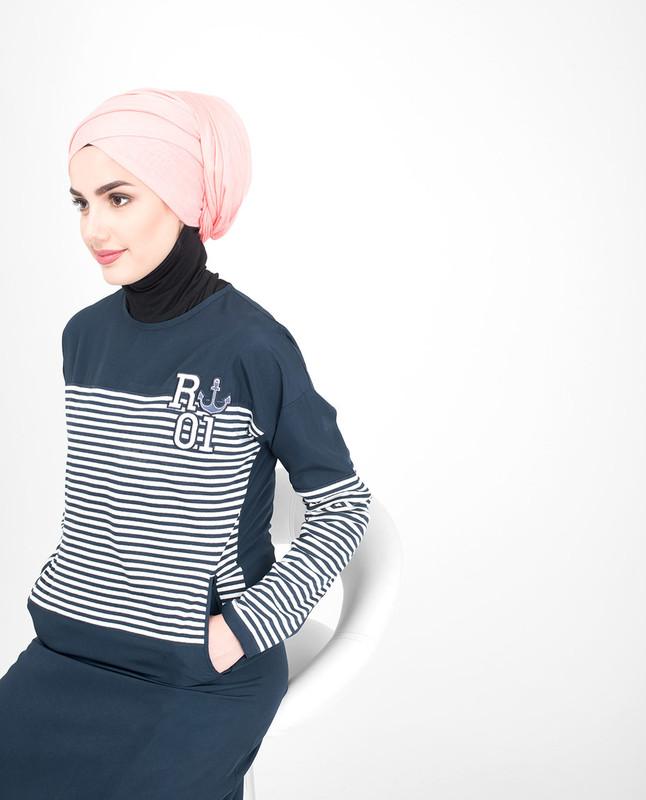 Nautical Striper Jilbab