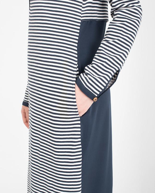 Blue Cotton jersey abaya jilbab