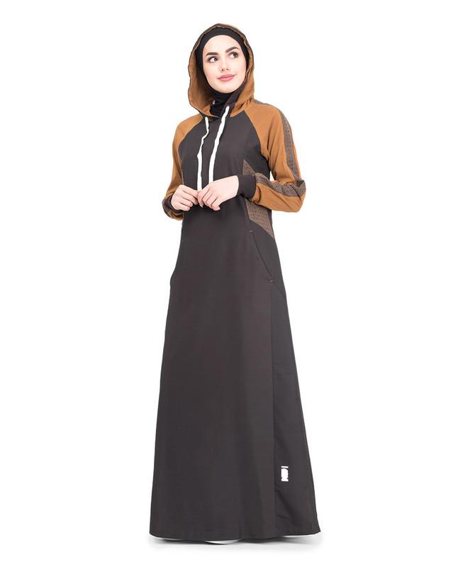 Cotton hooded jilbab abaya