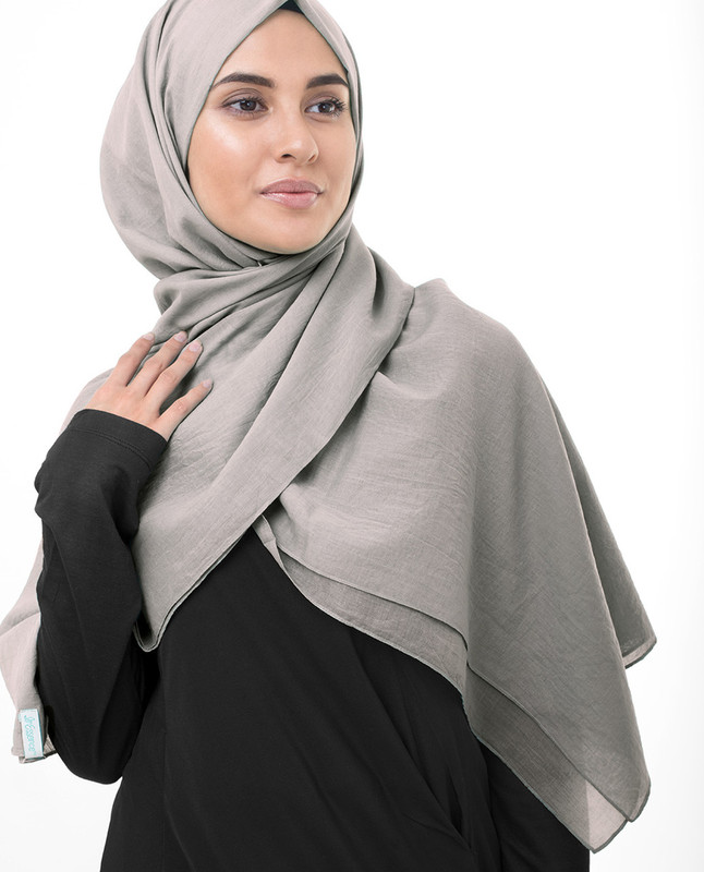 Ghost Grey Cotton Voile Scarf