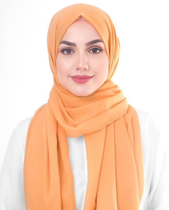 Tangerine Cotton Voile Scarf
