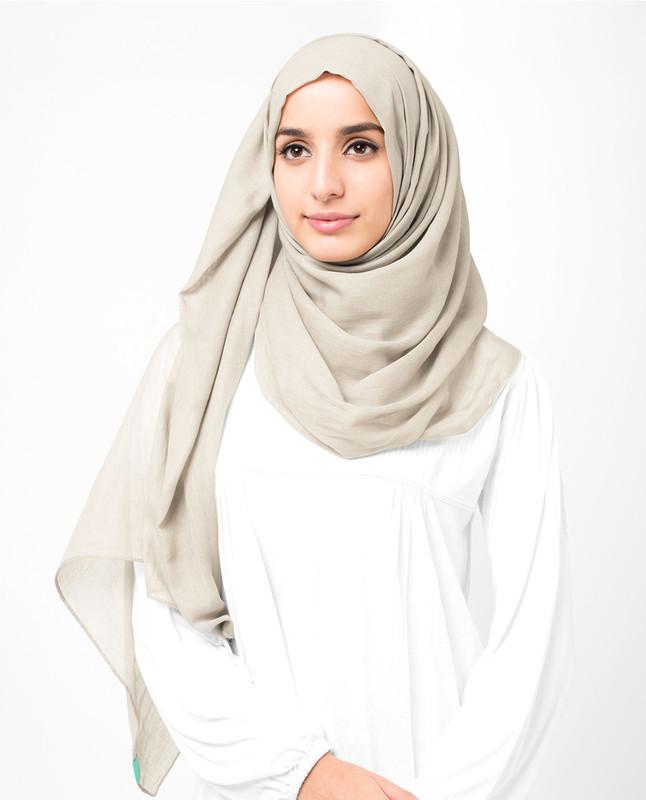 beige sylist hijab scarf