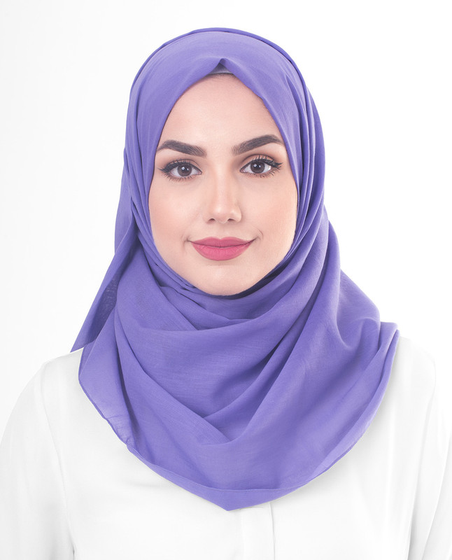 Purple Opulence Cotton Voile Scarf