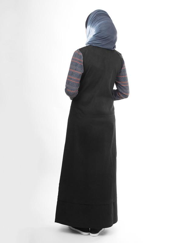 black winter modest abaya jilbab