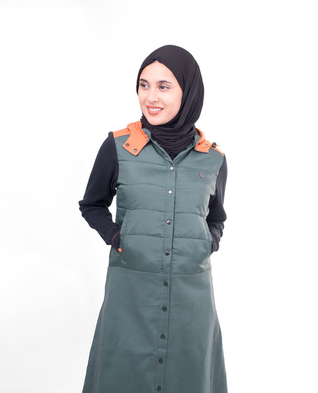 Front Open Winter Hooded Jilbab