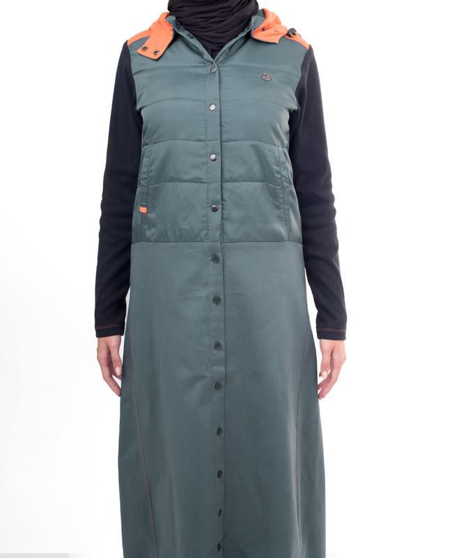 Blue hood abaya jilbab