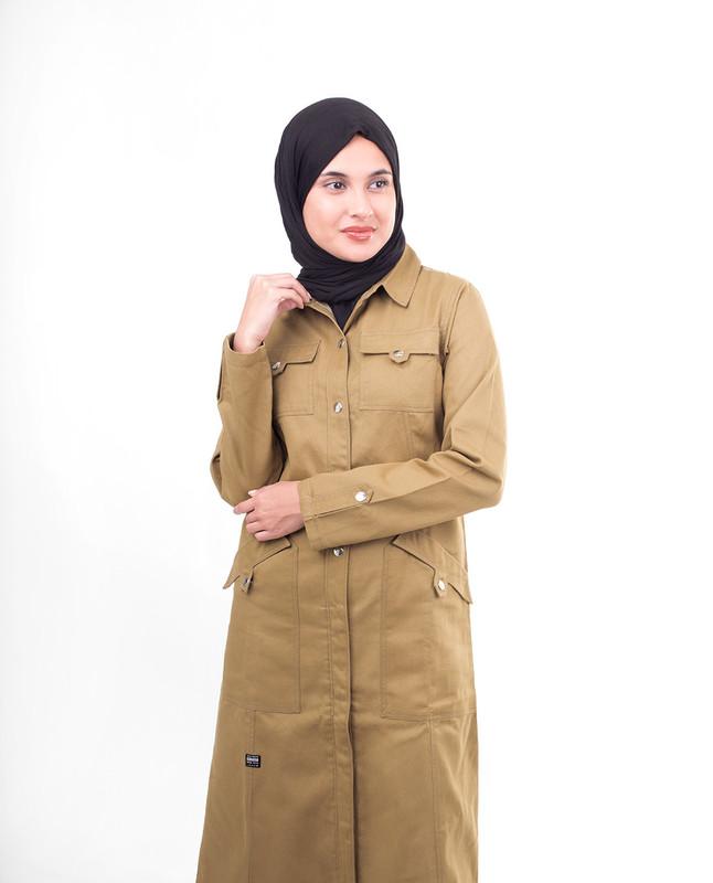 Collar winter abaya jilbab