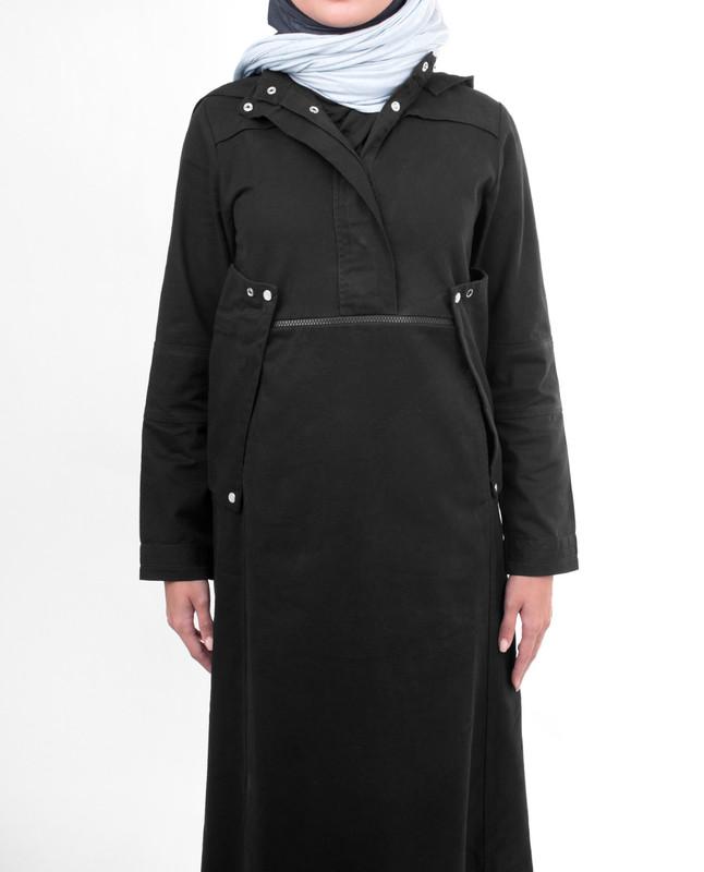 Modest black stylist abaya jilbab
