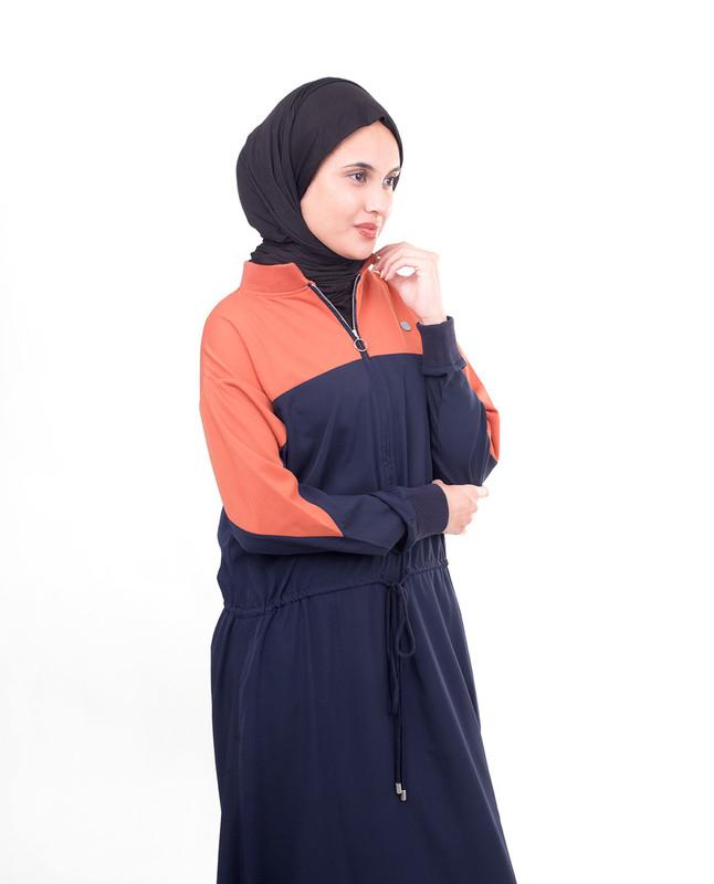 orange abaya jilbab