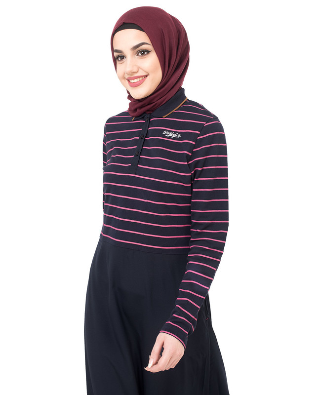 Jersey And Crepe Striper Jilbab