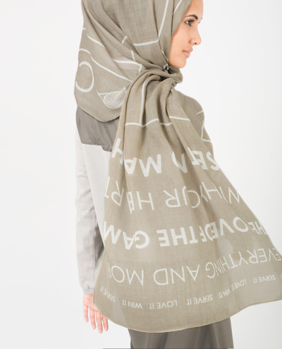 Zinc and White Scarf