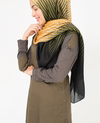 Olive and Honey Yellow Scarf