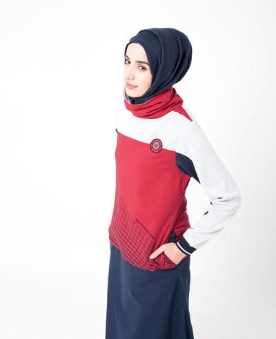 True Red Jilbab
