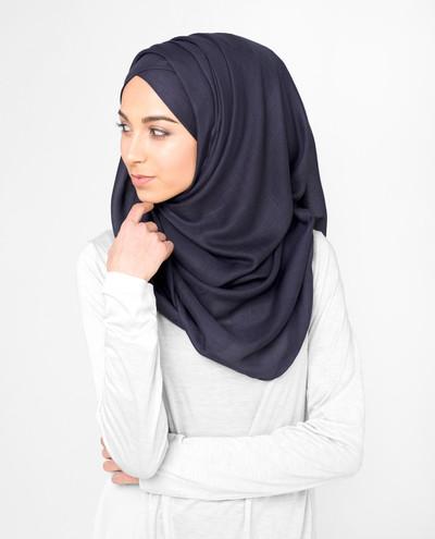Nightshade Purple  Viscose Hijab