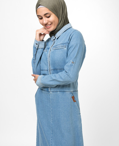 Blue Polo Denim Jilbab