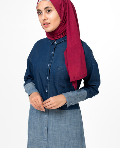 Fine Denim Shirt Abaya