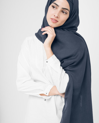 Dark Slate Viscose Hijab