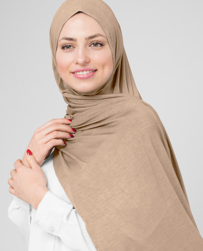 Toasted Almond Viscose Jersey Scarf