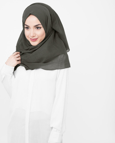 Olive Night Cotton Voile Scarf