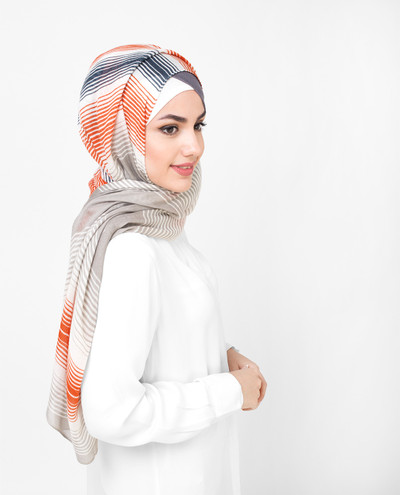Multi Shaded Beige Bold Viscose hijab