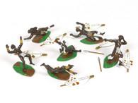 Trophy Miniatures ZS50A Zulu Casualties 6 Injured Zulu Warriors