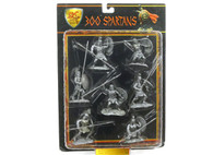 Conte Collectibles Spartans Plastic Figures Set Nine of Nine in Silver