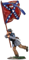 W Britain Toy Soldier American Civil War Sergeant Charging 5th Texas Flag No 1