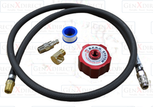 Kit includes BERG extended run fuel cap, hose, fitting, instructions, and all necessary hardware for complete assembly with your own fuel tank.