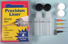 PRECISION APPLICATOR SET w/5 TIPS -GREAT FOR BODY ART & HENNA TATTOO INKS