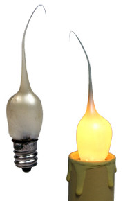 Creative Hobbies® Mini Country Style Silicone Dipped Candle Light Bulbs, 3 Watt Pearlized Gold Color -Pack of 10 Bulbs