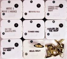 18 Note Wind Up Music Box Musical Movements with Winding Keys - Wholesale Lot of 8 Popular Tunes Set 2