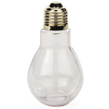 Clear Plastic Fillable Light Bulbs, Great for Candy, Weddings or Crafts, 4 Inch Tall, Case Pack of 24