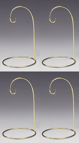"""Creative Hobbies® Metal Wire Ornament Stands Display Holder Gold Colored - 7"""" High - Set of 4"""
