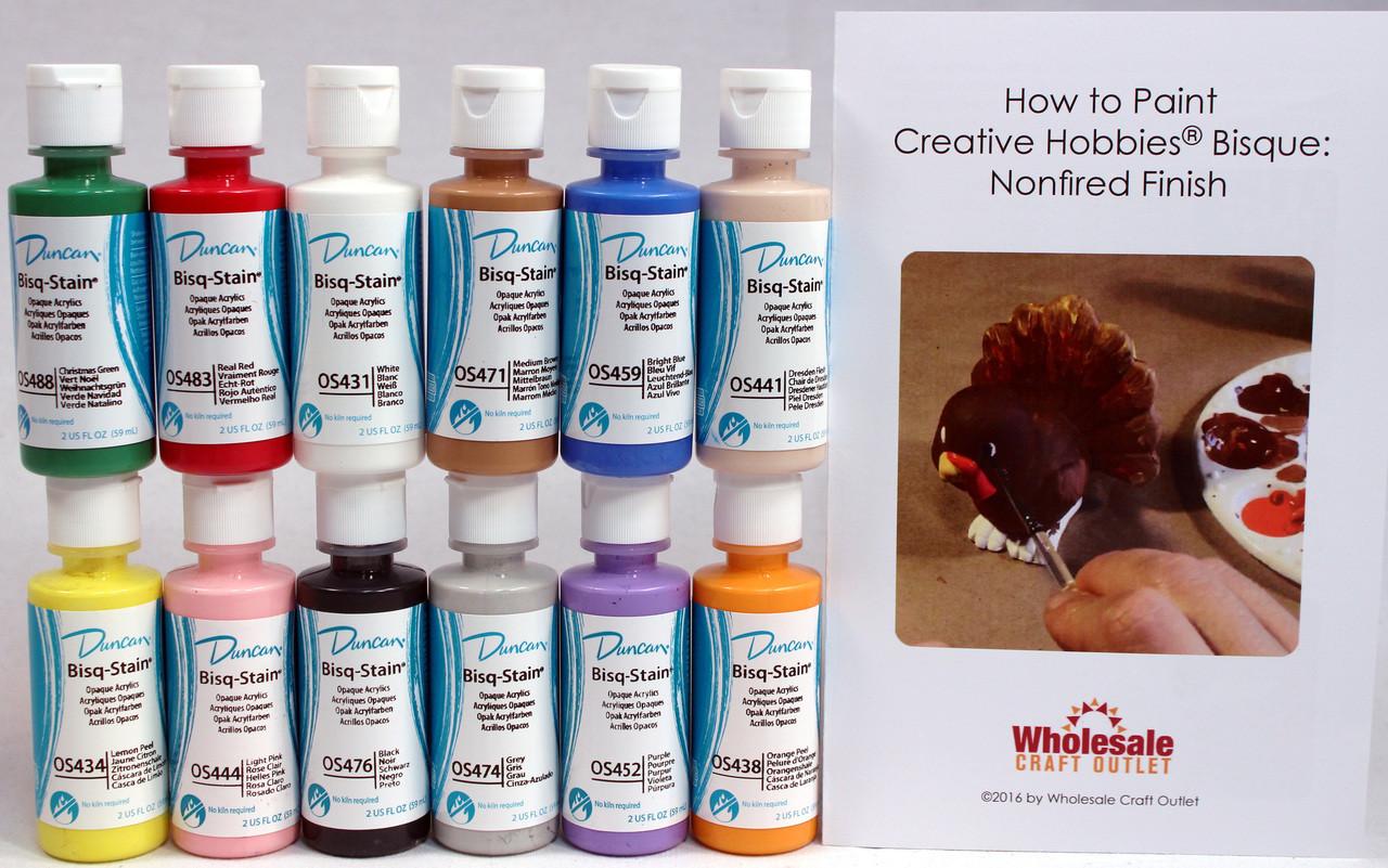 Duncan oskit 1 acrylic paint set 12 best selling colors for Wholesale acrylic craft paint