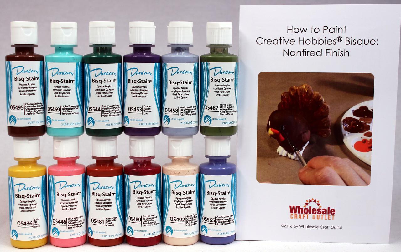 Duncan oskit 4 acrylic paint set 12 best selling colors for Wholesale acrylic craft paint