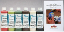 Duncan CNKIT-13.8 Concepts Underglaze Christmas Colors Paint Set, 6 Best Selling Colors in 8 Ounce Bottles with Free How To Paint Ceramics Book