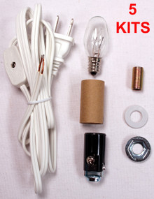 Creative Hobbies® ML2-B6 Small Christmas Tree Wiring Kit, Great For Lighting Small Objects, Lot of 5 Kits