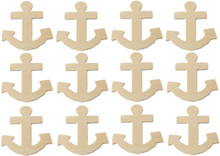 Creative Hobbies® Unfinished Wood Anchor Cutout Shapes, Ready to Paint or Decorate, 4 Inch Tall, Pack of 12
