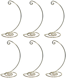 Creative Hobbies Fancy Gold Metal Ornament Display Hanger Stands, 10 Inch Tall, Pack of 6